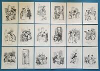 NEW Set of 18 A6 Postcards Illustrations from Sense and Sensibility Jane Austen