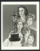 1970 THE 42ND ACADEMY AWARDS W/ OSCAR STATUE Vintage Original Photo