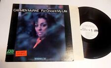 For Once in My Life by Carmen McRae LP MONO jazz vocal WHITE LABEL PROMO