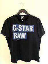 G Star Raw Black T Shirt Spellout XL