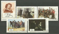 Russia - Mail 1969 Yvert 3513/7 MNH Paintings