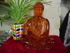 amber/copal man made large thai buddha cross legged