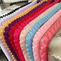 5yds Satin Ruffle Lace Trim Ribbon Pleated Tape Dress Doll Clothes 0.98'' Width
