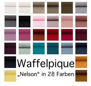 """Waffelpique, Waffelstoff, """"Nelson"""" Öko-Tex zertifiziert, 152cm breit, Meterware"""