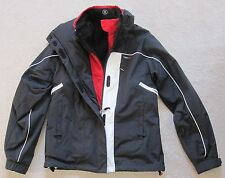 BOGNER women's JACKET w/ FLEECE LINER, BLACK & RED & WHITE - size 6