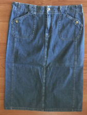 White Stag Petite Womens Blue Jean Denim Skirt Size 14P #4787