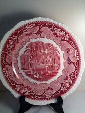"""Vintage Mason - Made In England Vista Pink - Red 9"""" Dinner Plate"""