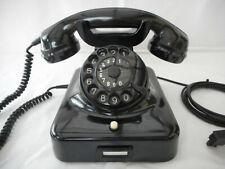 ALTES BAKELIT TELEFON   W48 +  DeTeWe  + 2 / 1951 + Wählscheibe + restauriert