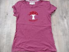 ADELHEID schönes T-Shirt Glückspilz dunkelrosa Gr. XS TOP RC518