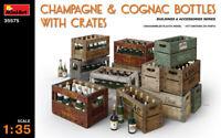 Miniart 35575 -1/35 - CHAMPAGNE & COGNAC BOTTLES w/CRATES