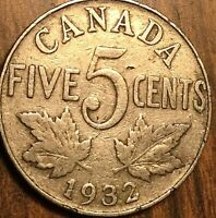 1932 CANADA 5 CENTS COIN