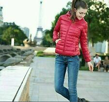 giubbino giubbotto cappotto donna giacca piumino 100 grammi varie taglie e color