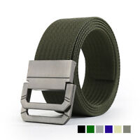 New Men's Military Belt for Jeans Wave Canvas Woven D-Ring Buckle Tactical Belt