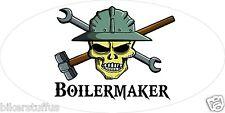 BOILERMAKER WITH SKULL HELMET STICKER HARD HAT STICKER TOOLBOX STICKER
