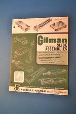 1970 GILMAN DOVETAIL SLIDE ASSEMBLIES CATALOG 2000 (JRW #093)