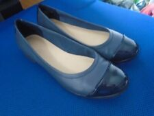 Clarks navy leather ballerina shoes size 4.5/37.5