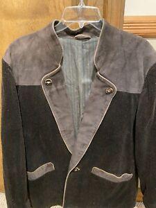 Lodenfrey Gray  Velvet  & Suede  blazer jacket size 50 EU/40 US Excellent