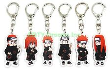 Set of 6 Naruto Anime Acrylic Keychain Six Paths Of Pain