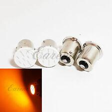 1156 4x Amber Yellow COB 12Chip LED Bulb #St2 P21W BA15s Front Turn Signal Light