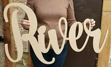 Personalised Wooden Name Large Wall Sign Room Decor Nursery Plaque Word