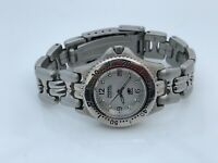 Fossil Blue Ladies Watch Silver Tone Date Calendar Analog Water Resistant 50M