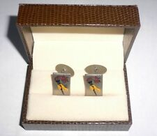 1960 Olympic Games Rome ORIGINAL Cufflinks 1960 OLYMPIADI ROMA in case VERY RARE