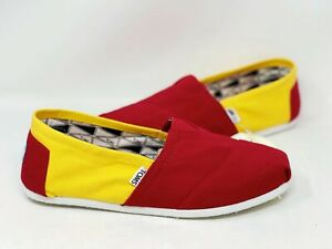 NEW! Toms Men's Classics USC Slip On Comfort Canvas Shoes Red/Gold W80 z