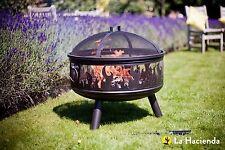 La Hacienda Wildfire steel garden firepit/firebowl with grill - 58116