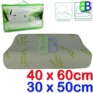 Bamboo Contour Memory Foam Orthopedic Pillow Head Neck Orthopedic Support