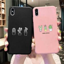 Cute Cactus Soft Cases For iPhones Samsung A50 A51 A71 Huawei Xiaomi Redmi Case