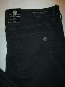 Rock & Republic High Roller Legging  Stretch Women's Blk Jeans Sz 18 M x 29 New