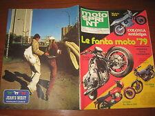 MOTOSPRINT 1978/39 PROVA VALENTI MC 125 PUBBLICITA' JEAN'S WEST