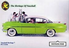 Old Print.  Green 1957 Vauxhall PA Cresta