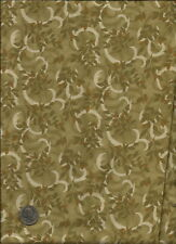 """Antique Rose Show"" Floral Print tan & golds on sage Fabric by Print Concepts"