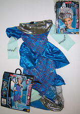 NWT Monster High Sz S 4-5-6 Frankie Stein Threaderella Costume Dress & Wig