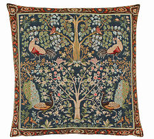 William Morris Birds & Trees Tapestry Cushion - 48 cm x 48 cm, Made in England