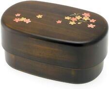Japanese Bento Box Lunch Container Woodgrain Sakura Cherry Blossom Made in Japan
