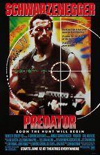 Predator movie poster : 11 x 17 inches : Arnold Schwarzenegger poster