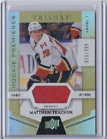 2016-17 Upper Deck Trilogy Rainbow Green #57 Matthew Tkachuk JSY Team: Calgary F