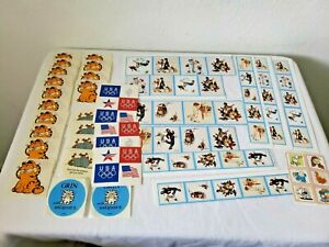 Vintage Sticker Lot Garfield Norman Rockwell Sandra Boynton Ziggy