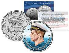 Lieutenant JOHN F KENNEDY of U.S. Navy 1941-45 Colorized JFK Half Dollar US Coin