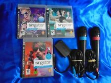 ps3 SINGSTAR Vol 1 + 2 + 3 + 2 WIRED Official Mics Microphones PAL Volume