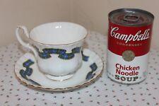Royal Albert Cup Saucer Set Nova Scotia Tartan, Fine Bone China, England, Mint