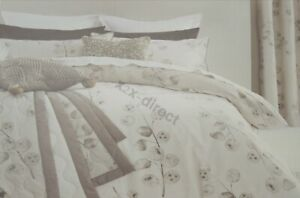 Next Double Natural Seedpod Printed Bedset With Piped Edge Duvet Cover Set
