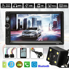 7'' Double 2 Din Car MP5 Player Touch Screen In Dash Stereo Radio + Rear Camera