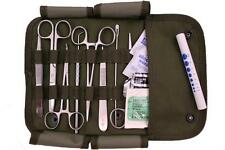 MILITARY Surgical Kit  Stainless Steel Instruments & Sutures 16pc Olive Drab Sty