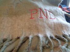 West Elm cozy texture throw 50 X 70 monogrammed PND  New without tag