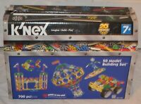 K'nex 20th Anniversary 50 Model Building Set 700 Piece Set- INCOMPLETE