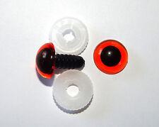 nach EN 71-3 Sicherheitsaugen 3 PAAR AMBER 8 mm Kunststoffaugen, Amigurumi