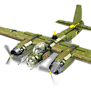 101037 Sembo Blocks Kids Building Toys Boy Bomber Plane Model Puzzle Gift no box